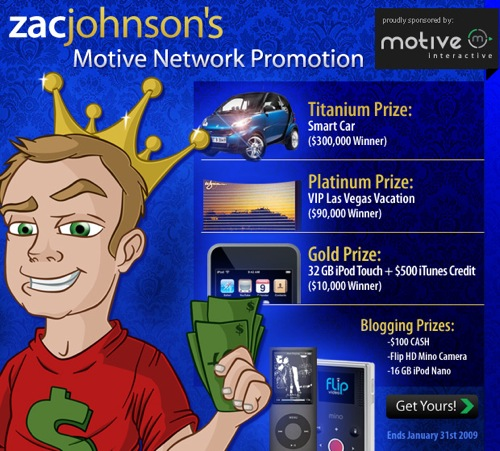 Zac Johnson - Motive Interactive Contest