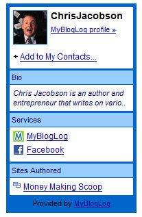 MyBlogLog About Me Widget
