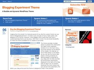 Blogging Experiment WordPress Theme